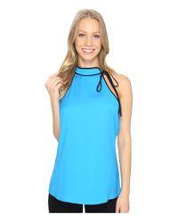 Calvin Klein   Blue Tie Halter Top   Lyst