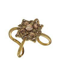 Oscar de la Renta | Multicolor Crystal Filigree Bracelet | Lyst