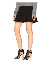 McQ | Black Peplum Mini Skirt | Lyst