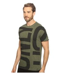 DIESEL Green T-diego-mh T-shirt for men