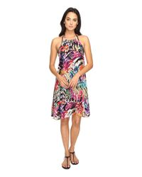 Nicole Miller   Red La Plage By Tropical Palms Halter Dress Cover-up   Lyst