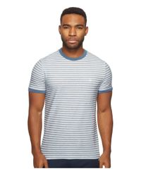 Original Penguin | Blue Short Sleeve Twill Auto Stripe Tee for Men | Lyst