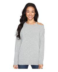 Culture Phit | Gray Tatum Open Shoulder Long Sleeve Top | Lyst