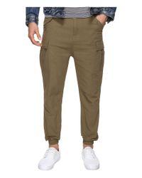 Publish | Green Joah - Herringbone Twill Drop Cargo Pants for Men | Lyst