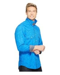Rock And Roll Cowboy | Blue Long Sleeve Snap B2s2067 for Men | Lyst