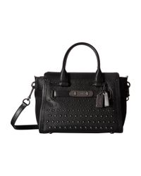 COACH | Black Ombre Rivets Swagger 27 | Lyst