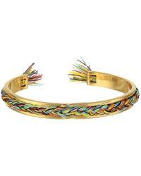 Rebecca Minkoff | Metallic Braided Cuff Bracelet | Lyst