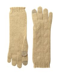 Polo Ralph Lauren | Natural Cashmere Cable Touch Gloves | Lyst
