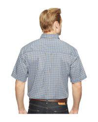 Cinch | White Short Sleeve Athletic Plaid for Men | Lyst