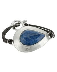 Robert Lee Morris | Blue Semiprecious Stone Leather Toggle Bracelet | Lyst