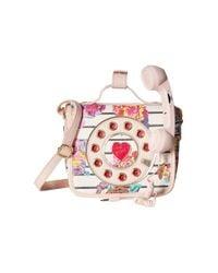 Betsey Johnson - Pink Mini Phone Crossbody - Lyst