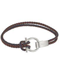 Ferragamo - Multicolor Gancio Woven Bracelet - Lyst