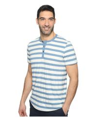 Kenneth Cole | Blue Short Sleeve Dressy Henley for Men | Lyst