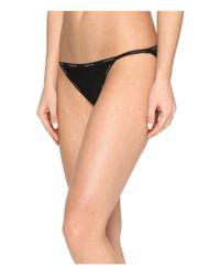 Calvin Klein | Black Sheer Marquisette String Bikini | Lyst