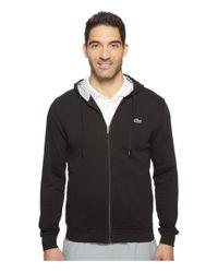 Lacoste   Black Sport Full Zip Hoodie Fleece Sweatshirt for Men   Lyst