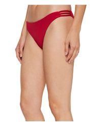 Roxy - Red Strappy Love Surfer Bikini Bottom - Lyst