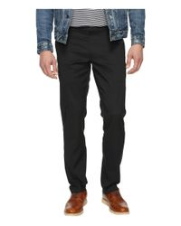Perry Ellis - Black Slim Fit Stretch Twill Chino Pants for Men - Lyst