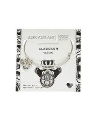 ALEX AND ANI   Metallic Charity By Design Claddagh Bangle - Boston Celtics Shamrock Foundation   Lyst