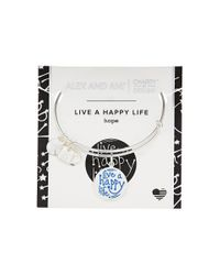 ALEX AND ANI | Multicolor Charity By Design Live A Happy Life Bangle - Joe Andruzzi Foundation | Lyst
