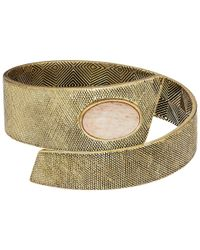 House of Harlow 1960 - Metallic Tanta Crosshatch Bangle - Lyst