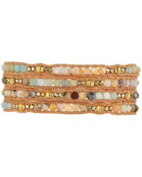 Chan Luu   Multicolor Semi-precious Stone Mix Wrap Bracelet   Lyst