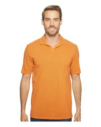 Mod-o-doc | Orange Pescadero Short Sleeve Johnny Collar Polo for Men | Lyst