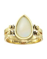 Lucky Brand - Metallic Reversible Coral And Cream Ring - Lyst