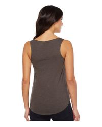 Lucky Brand - Black Embroidered Peacock Tank Top - Lyst