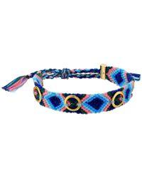 Rebecca Minkoff - Blue Grommet Stud Friendship Bracelet - Lyst