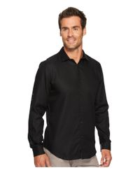CALVIN KLEIN 205W39NYC - Black Twill Roll-up Button Down Shirt for Men - Lyst