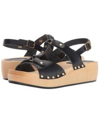 Swedish Hasbeens - Black Rivet Sandal - Lyst