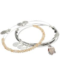 ALEX AND ANI - Metallic Owl Bracelet Set Of 3 - Lyst