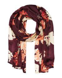 Vince Camuto | Multicolor Brushed Floral Oblong Scarf | Lyst