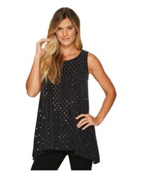Nally & Millie Silver And Black Tunic