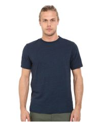 Threads For Thought   Blue Baseline Tri-blend Crew Tee for Men   Lyst