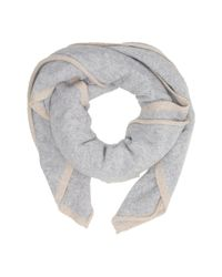Ugg - Gray Two Color Oversized Square Scarf - Lyst