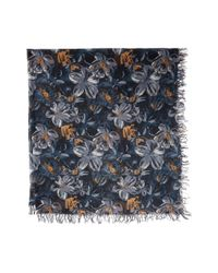 Chan Luu - Multicolor Painterly Floral Silk And Cashmere Scarf (total Eclipse Mix) Scarves - Lyst