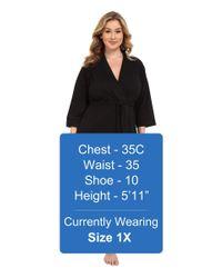 Jockey - Black Plus Size 48 Cotton Robe (truffle) Women's Robe - Lyst