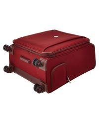 """Delsey - Red Montmartre 25"""" Expandable Spinner Suiter Trolley - Lyst"""