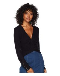 Free People - All Types Of Twisted Top (black) Women's Clothing - Lyst