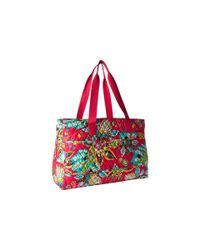 Vera Bradley Luggage   Red Triple Compartment Travel Bag   Lyst