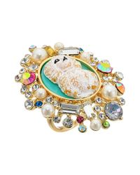 Betsey Johnson - Multicolor Poodle Cameo Ring - Lyst
