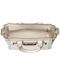 COACH - White Pebbled Leather Swagger 27 - Lyst