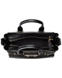 COACH - Black Pebbled Leather Swagger 27 - Lyst