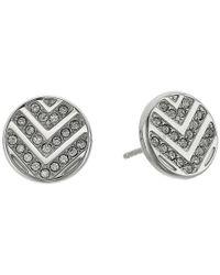 Fossil - Metallic Chevron Glitz Studs Earrings - Lyst