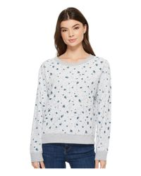 Michael Stars - Gray French Terry Reversible Pullover With Flowers - Lyst