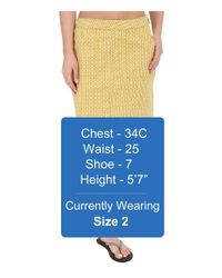 Prana - Yellow Kara Skirt - Lyst