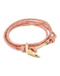 Miansai - Rope Anchor Bracelet (pink) Bracelet - Lyst