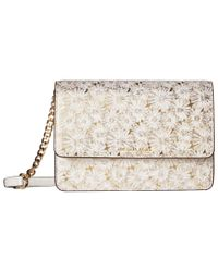MICHAEL Michael Kors Multicolor Large Gusset Crossbody (optic White/gold) Cross Body Handbags