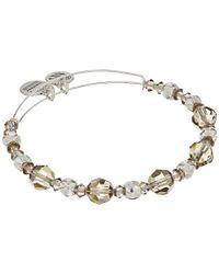 ALEX AND ANI - Metallic Moon Beaded Bangle With Swarovski Crystals (shiny Silver Finish) Bracelet - Lyst